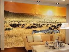 3D Soirée Zèbre 027 Photo Papier Peint en Autocollant Murale Plafond Chambre Art