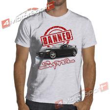 Toyota Supra MK4 Banned Soft T-Shirt Soft Cotton T-Shirt 2JZ A80 JDM Drifting
