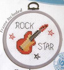 Guitar Rock Star - Semco cross-stitch kit with frame to do