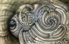 "Bio Mechanics Art Robot Eye Painting on Fabric  16.9"" * 27.5"" Signed by Artist"