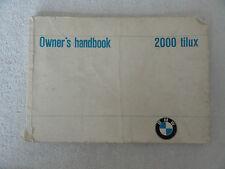 1967 ? BMW 2000 Tilux Owner's Manual