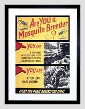 PROPAGANDA WAR WWII USA MOSQUITO TANK TRACK BLACK FRAMED ART PRINT B12X7190