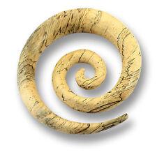 6/8/10/12mm allungamento spirale falciformi legno Ear Plug Orecchio Piercing Expander 344