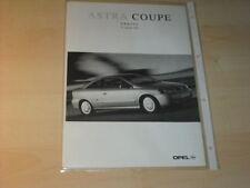 16150) Opel Astra Coupe Preise & Extra Prospekt 01/00