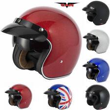 Vcan V537 Motorbike Motorcycle Helmet Jet Open Face Sun Visor Scooter