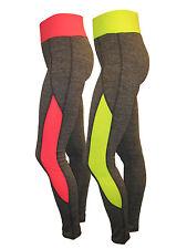 Damen Sporthose Freizeithose Fitnesshose Hose Trainingshose Grau Neon Gelb Pink