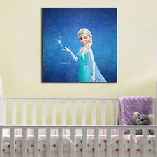 Disney Frozen Elsa Canvas Print Giclee Kids Wall Art Framed Nursery Home Decor