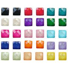 NUOVO Mini 10 mm brillante sfaccettato vetro glitterate Gemma Orecchini Twinkle miniera