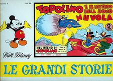 """TOPOLINO """" LE GRANDI STORIE * TOPOLINO E IL MISTERO DELL'UOMO NUVOLA * N°8/1967"""