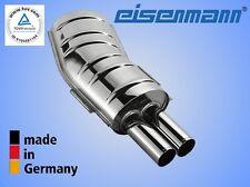 Eisenmann bmw e36 318is 2x70mm el original! acero inoxidable endschalldämpfer