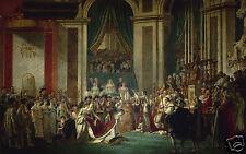 David - L'incoronazione consacrazione di Napoleone - Quadro - Stampa su tela