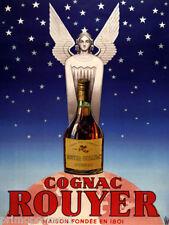 FRENCH COGNAC ROUYER ANGEL BOTTLE GLOBE NIGHT SKY STARS VINTAGE POSTER REPRO