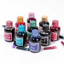 10 Rich Bright Colours Fountain Pen Ink 30ml In Glass Best Bottle L7V6