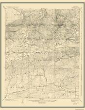 Topographical Map Print - Piru California Quad - USGS 1921 - 23 x 29.56