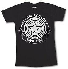 SALE Civil War T Shirt Captain America Iron Man Team Stark Rogers Men Top Silver