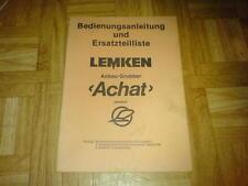 BAL+ETL Lemken Anbau-Grubber Achat Baureihe D