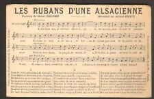 """""""LES RUBANS D'UNE ALSACIENNE"""" Musique & Paroles Chanson"""