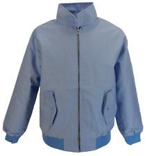 Mens azul cielo Retro Mod Classic Harrington Jacket