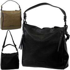 ESPRIT Damen Handtasche mittelgroß, 2x Riemen, Schulter Umhänge Tasche Hobo NEU