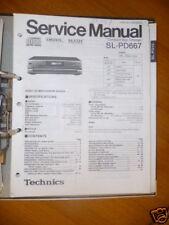 Service Manual Technics sl-pd667 reproductor de CD, original