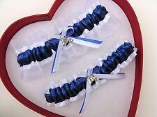 NEW Bridal Royal Blue Navy White Wedding Garters Homecoming Horse Cowgirl Farm