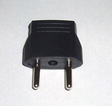 USA US Flat to EURO EU Round Pin Adapter Changer Plug