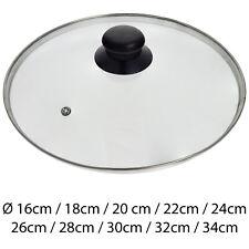 Glasdeckel Topfdeckel Pfannendeckel Kochtopfdeckel mit Edelstahlrand 16 - 34 cm