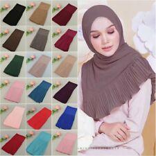 Muslim Women Chiffon Crinkle Scarves Warp Long Scarf Hijab Islmiac Shawl Shayla