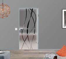 ESG Glastür Innentür Zimmertür Glas Tür Ganzglastür 834x1972 M6-834