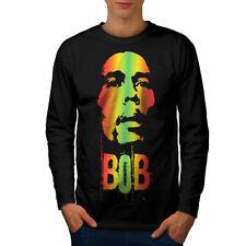 420 Pot Rasta Bob Marley Men Long Sleeve T-shirt NEW   Wellcoda