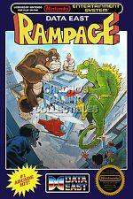 RGC Huge Poster - Rampage BOX ART Original Nintendo NES - NES057