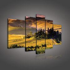 CANVAS Wandbild Leinwandbild Bild Natur Feld Wiese Toskana Haus Foto 14N157S17