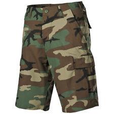 Mfh Hommes Us Bdu Bermudes Armée Travail Trekking Coton Ripstop Woodland Camo
