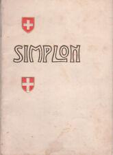 Die Simplon-Linie Bern 1906 Brochure Sempione
