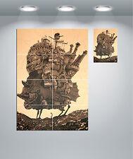 Howl's Moving Castle Anime película Gigante Pared arte cartel impresión