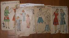 VINTAGE SEWING PATTERN 40's- Dubarry   Advance  Child, Men,Women 4 Patterns