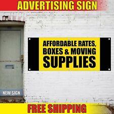 Boxes Moving Supplies Banner Advertising Vinyl Sign Flag Affordable Rates basket