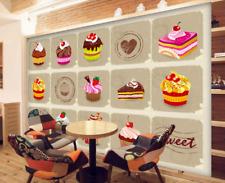 3D Motif De Gâteau Photo Papier Peint en Autocollant Murale Plafond Chambre Art