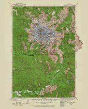 Topographical Map Print - Mt Rainier Washington Quad - USGS 1924 - 23 x 28.38