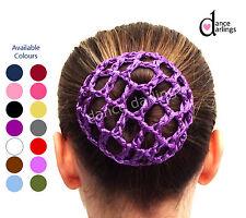 Girl's PLAIN Crochet Hair Bun Net Cover Ballet Dance Gymnastics Equestrian