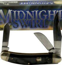 ROUGH RIDER Midnight Swirl STOCKMAN Pocket Knife #959 Handles 3 Blade Folding