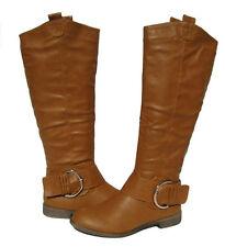 New Women's Boots Brown Cognac Shoes Winter Snow Fur Lined Ladies size 9