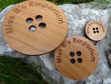 Gran Personalizado Madera Botones - 3 Pulgadas Personalizado De Botones. artesanales, Únicos