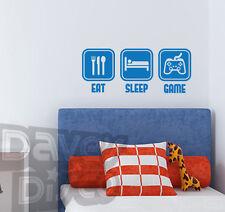 EAT SLEEP GAME xbox 360 video gamer cod gta boys bedroom wall art sticker decal