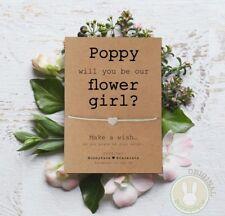 *Will you be my Flower Girl* Wish Bracelet Friendship Card Gift wedding Kraft