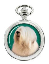 Inglés Antiguo Sheepdog Reloj de Bolsillo (Grabado Opcional)