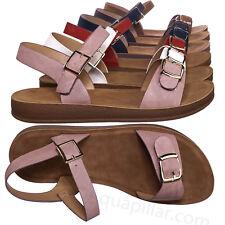 Reform9 Comfortable Flatform Open Toe Sandal w Rubber Outsole & Ankle Strap