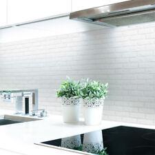 Küchenrückwand Ziegelwand Weiß Premium Hart-PVC 0,4 mm selbstklebend