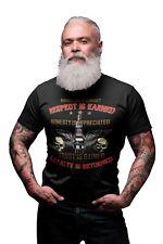 RESPECT IS EARNED Mens Funny Biker T-Shirt Motorbike Motorcycle Ride Bike Gift