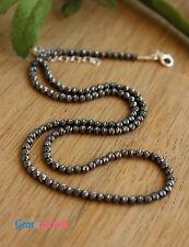 Tiny Black Oxidized Silver Diamond Laser Cut Ball Beads Choker Chain Necklace